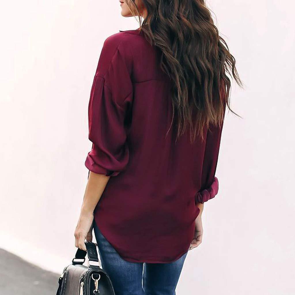 Missoul Womens T Shirts Tee Tops,Long Sleeve Casual Loose Blouse Top Ladies Work