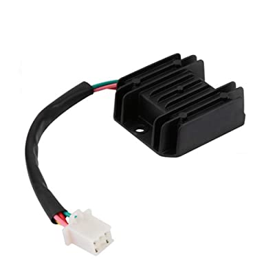 12V Voltage Regulator Rectifier 4 Wires for GY6 125cc 150cc ATV Dirt Bike Go Kart Moped and Scooter: Automotive