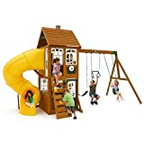 CRESTON LODGE SWING PLAYSET CEDAR SUMMIT KIDKRAFT