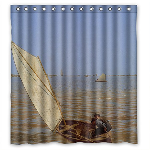 TonyLegner The Thomas Eakins Art Painting Bath Curtains Of Polyester Width X Height / 66 X 72 Inches / W H 168 By 180 Cm Decoration Gift For Father Kids Girl Her Couples. Waterproof Mate (Brushed Antique Thomas)