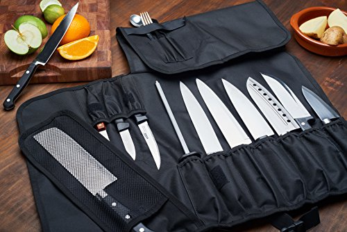 Everpride Chef Knife Roll Up Storage Bag 14 Slots Holds