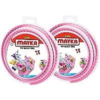 Mayka Toy Block Tape - 2 Stud - Pink - 6 Feet - 2 Pack...