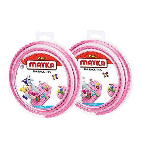 Mayka Toy Block Tape - 2 Stud - Pink - 6 Feet - 2 Pack (Compatible with Lego) Only $3.66 **Add-On Item**