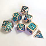 elegantstunning Creative Multifaceted Dice Special-shaped Enamel Dice Game Toys Green