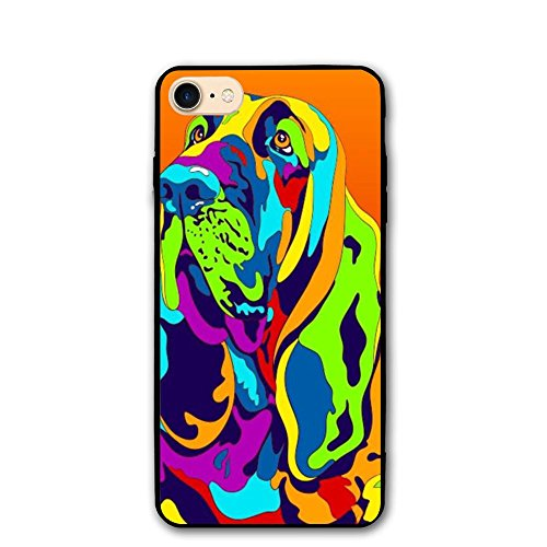 DFYUIOP Multi-Color Bloodhound Dog Shell Hard Full Protective Anti-Scratch Resistant Cover Case For Apple IPhone 8/8S