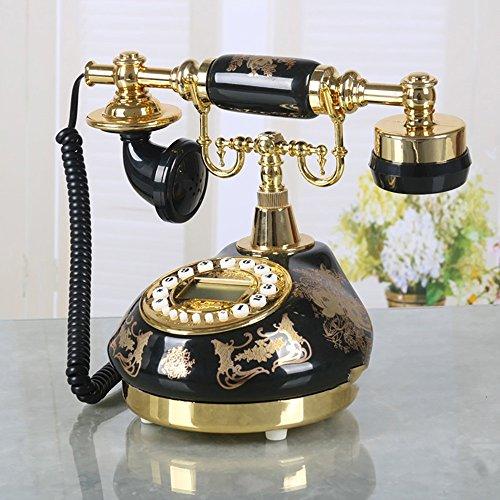 LXYFMS Black Ceramic Stamping Garden Antique Telephone Home Vintage Landline Living Room Fixed Telephone Telephone from LXYFMS