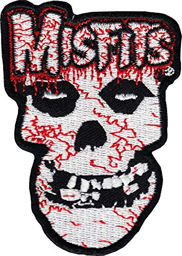 The Misfits - Bloody Fiend - Embroidered Iron on Patch]()