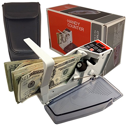 NEW Mini Handy Worldwide Bill Cash Banknote Count V40 Money Currency Counter ~ Battery or AC Plug In Powered AC/DC by Bluedot Trading
