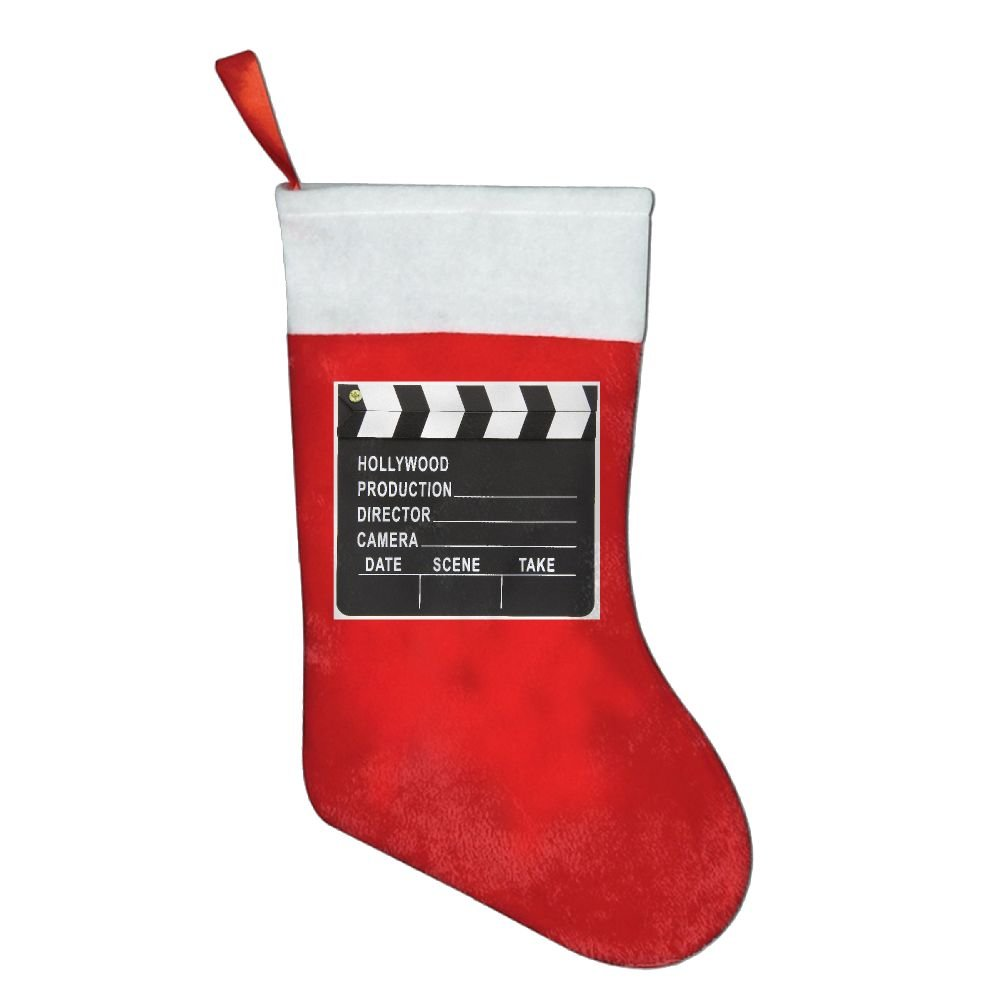 YISHOW Movie Cinema Lapper Board Personalized Christmas Stocking