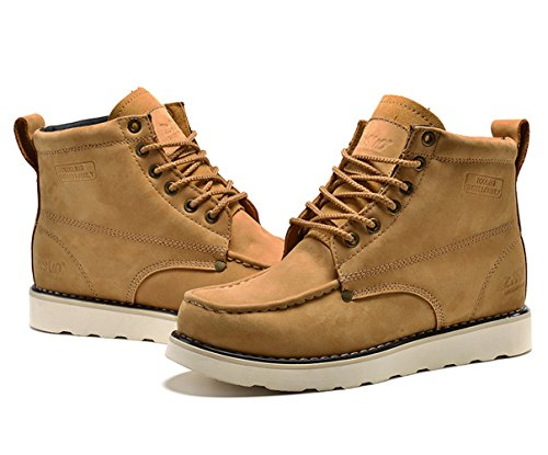 Insun , Herren Stiefel Cowhide Leather Camel