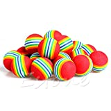 Kocome 20pcs Golf Golfer Swing Training Aids Sponge Foam Indoor Practice Rainbow Balls