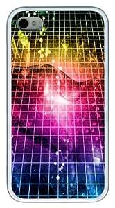 iPhone 4S Case,Space Grid TPU Custom iPhone 4/4S Case Cover Whtie