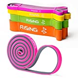 4UMOR Resistance Bands,Pull Up Fitness Exercise Bands Power Training, Body Stretching,Cross Training, Weight Lifting, Gymnastics, Chain up,Home Gym, Weight Training, Yoga-Pink 10-25 Lbs Resistance For Sale