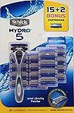 Schick Hydro 5 System: 1 Razor + 15 Cartridges Refills