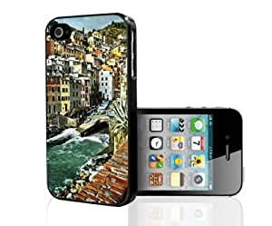 Italian Landscape Riverfront Hard Snap on Phone Case (iPhone 4/4s) by lolosakes