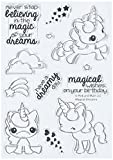 Pink & Main PM0180 N/A clear Stamps 4''X6''-Magical Unicorns