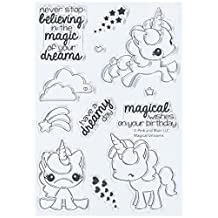 "Pink & Main Clear Stamps 4""x6"", Magical Unicorns"
