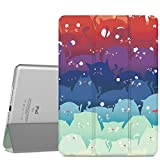 MoKo iPad Air 2 Case - Ultra Slim Lightweight Smart-shell Stand Cover with Translucent Frosted Back Protector for Apple iPad Air 2 9.7 Inch Tablet, Totoro (with Auto Wake / Sleep, Not fit iPad Air)