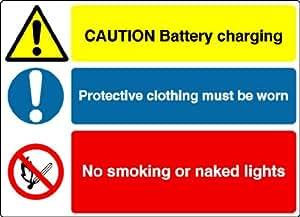 S1557 pequeña precaución advertencia de carga recargable