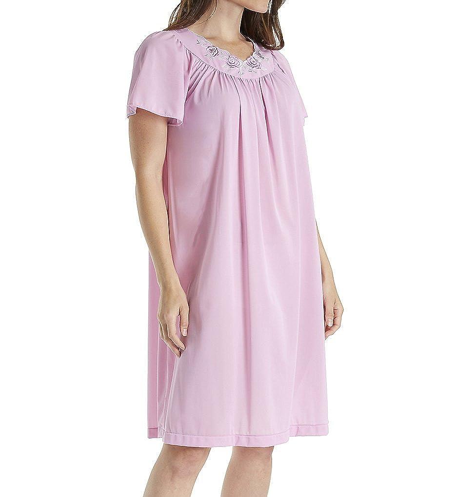 Shadowline Women's Plus-Size Petals 40 Inch Short Flutter Sleeve Waltz Gown Shadowline Sleepwear 36280X