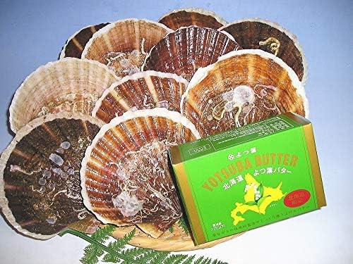 北海道産 活帆立貝 2kg詰 よつ葉バターセット
