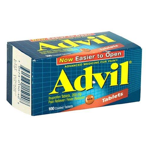 Advil, Ibuprofène 200 mg, comprimés enrobés 100 comprimés enrobés