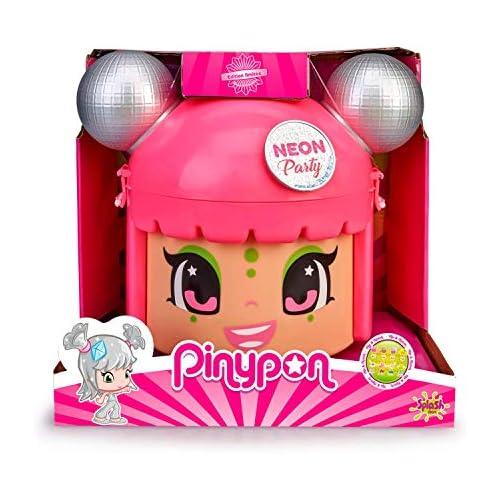 chollos oferta descuentos barato Pinypon Mix Match Neon Party Contenedor con 5 Figuras exclusivas de 4 a 8 años Famosa 700015210