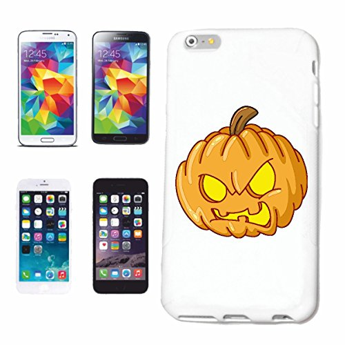 "cas de téléphone iPhone 5C ""MAD PUMPKIN SMILEY ""sourire EMOTICON APP de SMILEYS SMILIES ANDROID IPHONE EMOTICONS IOS"" Hard Case Cover Téléphone Covers Smart Cover pour Apple iPhone en blanc"