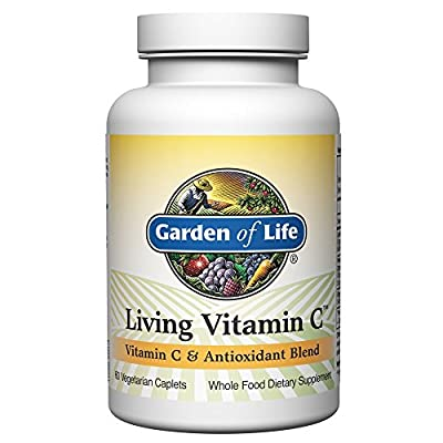 Garden of Life Non-GMO Vitamin C Supplement - Living Vitamin and Antioxidant Whole Food Nutrition Vegetarian, 60 Caplets