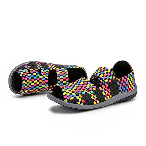 Shoes Sneakers Woven Black FZDX Walking Lightweight 995 Comfort Fashion On Women Slip Shoes Handmade qBBwzpY