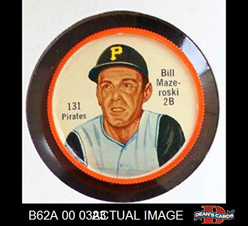 1962 Salada Coins # 131 Bill Mazeroski Pittsburgh Pirates (Baseball Card) Dean's Cards 6 - EX/MT Pirates