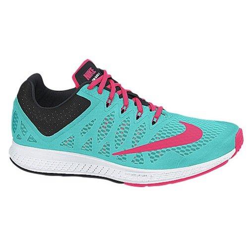 Nike Women's Air Zoom Elite 7 Running Shoe (9 B(M) US, Hyper Jade/Hyper Punch/Black) (Nike Womens Air Zoom Elite 8 Running Shoe)