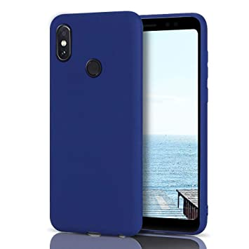 MoEvn Funda Xiaomi Redmi Note 5 Silicona, Azul Oscuro Redmi Note 5 Carcasa Mate Case Cover TPU Suave Slim Anti Skid Anti Rasguño Candy Color Gel Funda ...