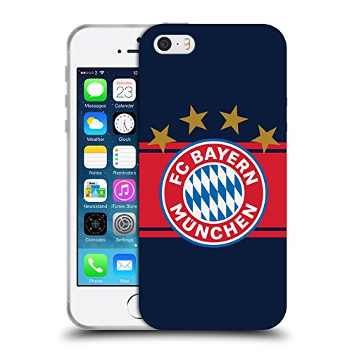 Official FC Bayern Munich Away 2017/18 Logo Kit Soft Gel Case for Apple iPhone 5 iPhone 5s iPhone SE