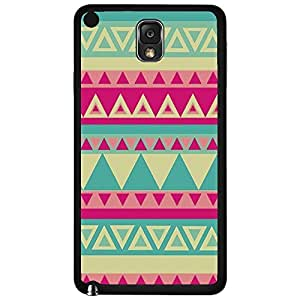 Colorful Pink and Teal Tribal Pattern Hard Snap on Phone Case (Note 3 III) wangjiang maoyi