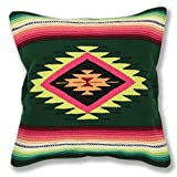 Serape Throw Pillow Cover, 18 X 18, Hand Woven in Southwest and Native American Styles. 3 Review