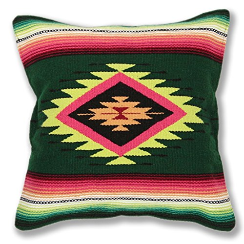 Serape Throw Pillow Cover, 18 X 18, Hand Woven in Southwest and Native American Styles. 3