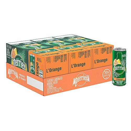 Sparkling Beverage (Perrier L'Orange Flavored Carbonated Mineral Water (Lemon Orange Flavor), 8.45 fl oz. Slim Cans (30 Count))