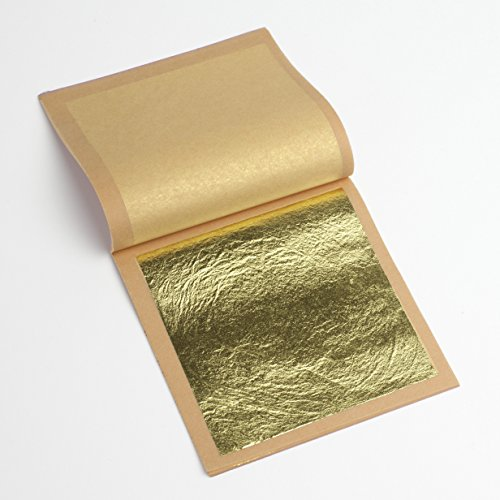 22K Genuine Gold Leaf Loose 1 Booklet (25 sheets) ()