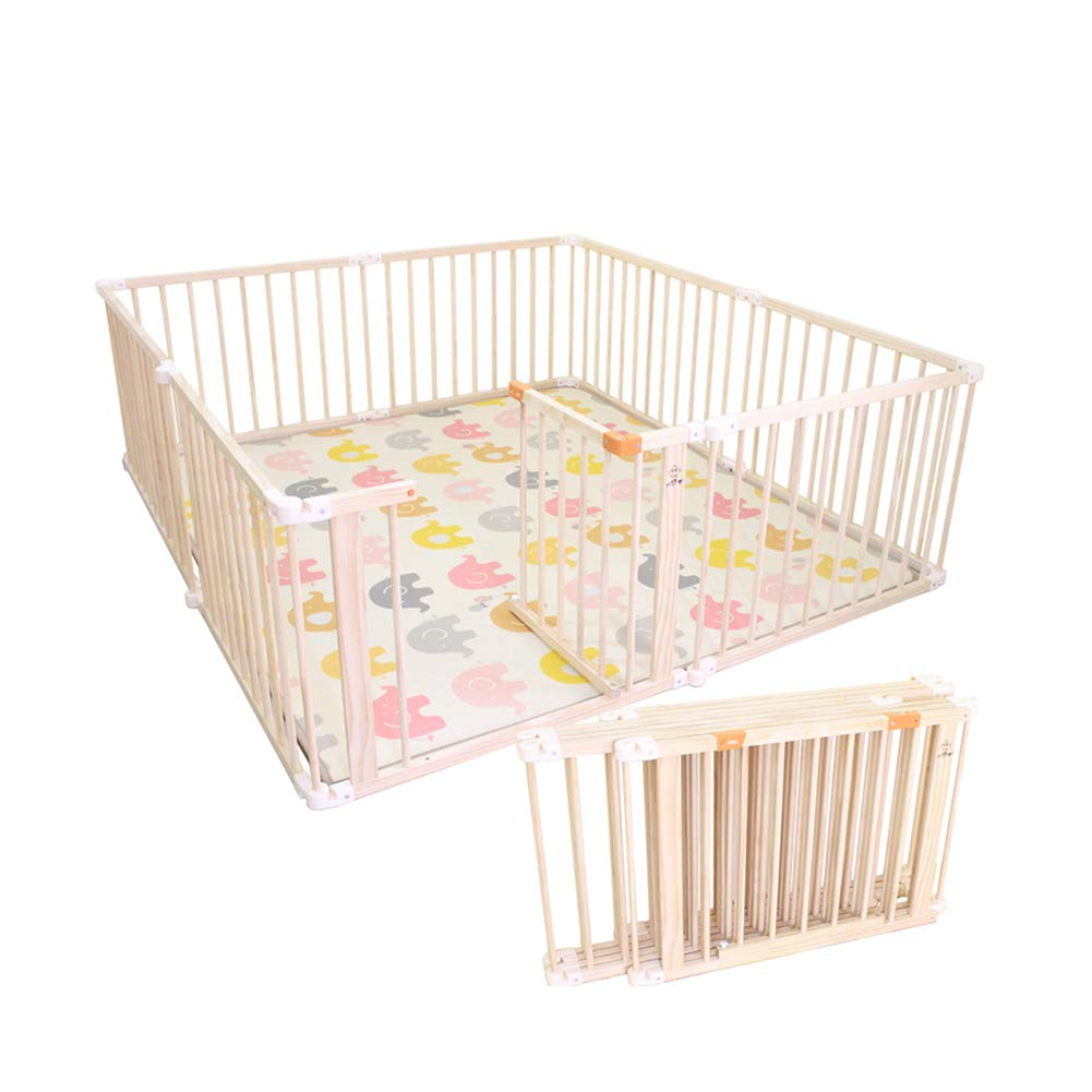 子供の遊び場子供の遊び場折りたたみ可能な木枠、屋内と屋外の安全ゲームPlaypen (サイズ さいず : 200×150×66cm) 200×150×66cm  B07LFF12LM