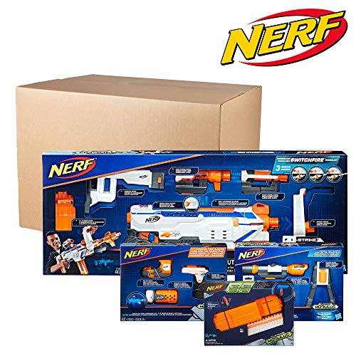 NERF Modulus Regulator Blaster & Upgrade Kits Bundle Deal 2019 -- Dart-Firing Blaster, Customizing Accessories, Darts (Amazon Exclusive)