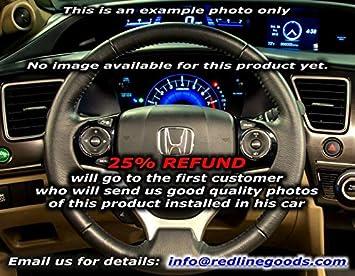 RedlineGoods armrest Cover for 2012-2015 Honda Civic Black/Black ...
