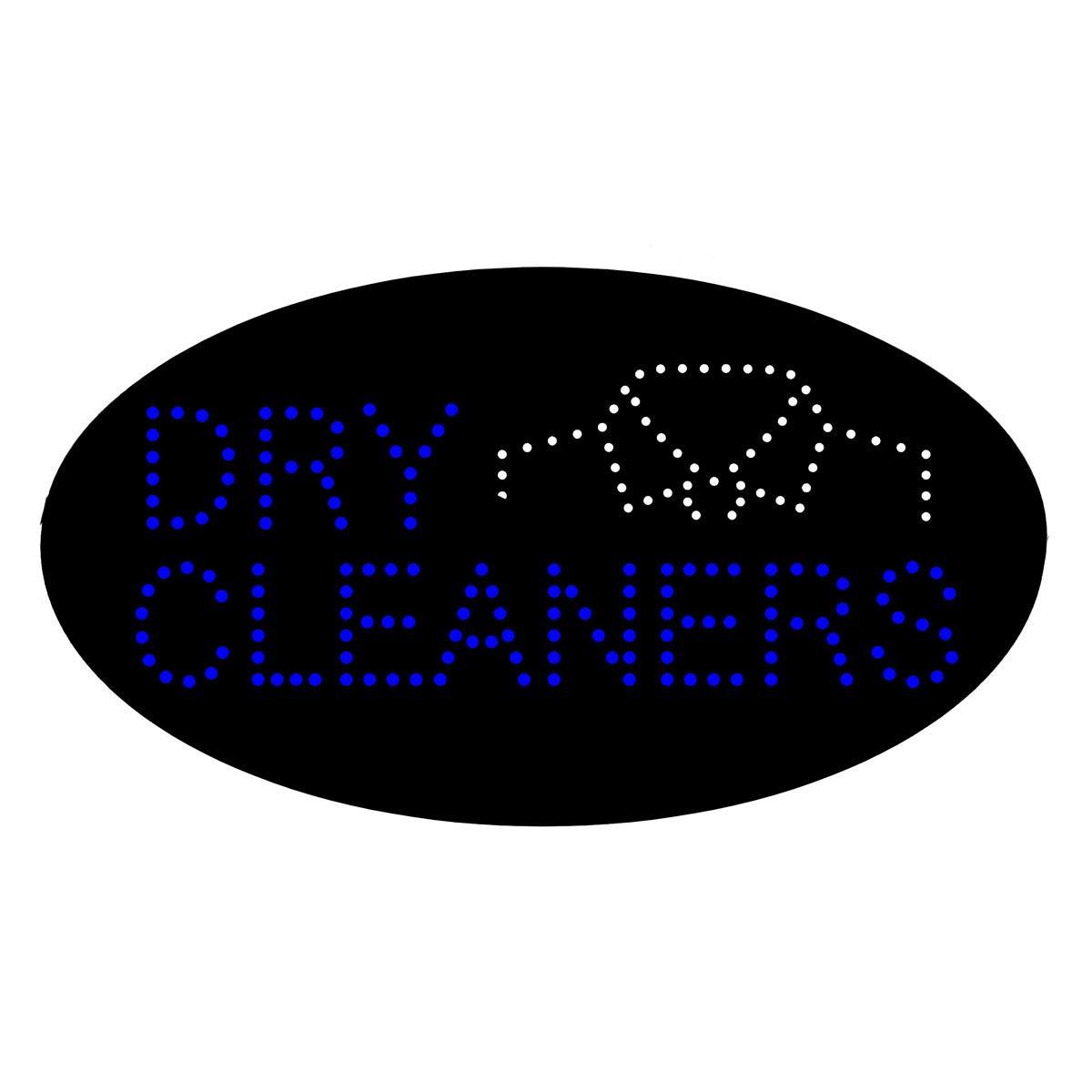 Pizarra de luz LED para limpieza de lavandería, cartel de ...