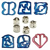 Sandwich Cutter Shapes 11 Piece Set Fruit Vegetables Bread Crusts Mini Cookie Cutters Flowers Star Heart Puzzle Butterfly Dolphin