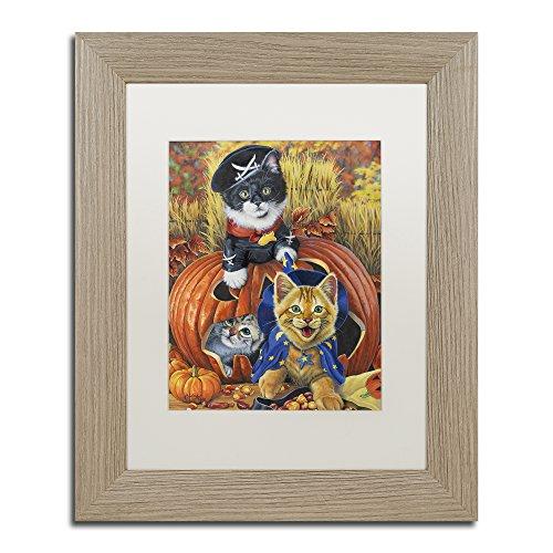 Halloween Kittens by Jenny Newland, White Matte, Birch Frame 11x14-Inch]()