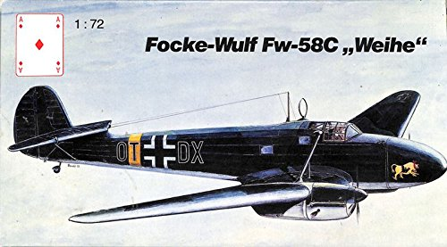 karo-as-172-focke-wulf-fw-58c-weihe-plastic-aircraft-model-kit-am-0272