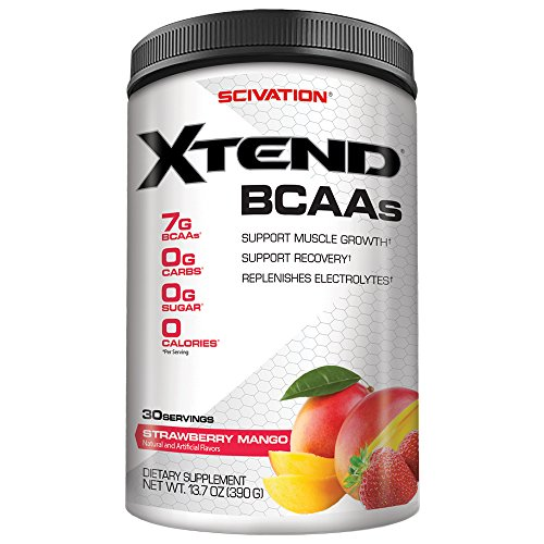 Scivation Xtend BCAA Powder, Branched Chain Amino Acids, BCAAs, Strawberry Mango, 30 Servings