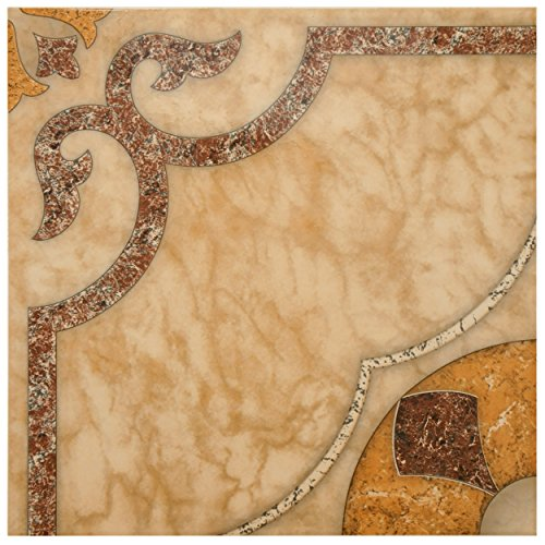 SomerTile FCL18CAR Dubai Ceramic Floor and Wall Tile, 17.625