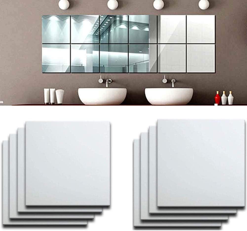 axuanyasi 18pcs Mirror Wall Stickers DIY Decorative Mirrors Self-adhesive Mosaic