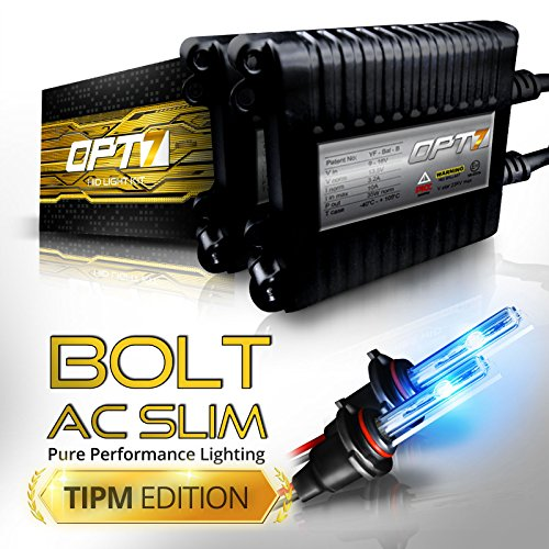 Bolt AC 35w Slim HID Kit - All Bulb Sizes and Colors - TIPM Resistor Bundle - 2 Yr Warranty [H11 (H8, H9) - 10000K Deep Blue